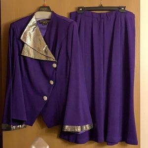 Donna Vinci 2.-pc women's knit skirt Suit